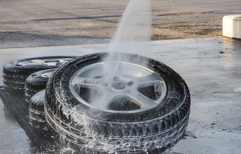 lavage pneus