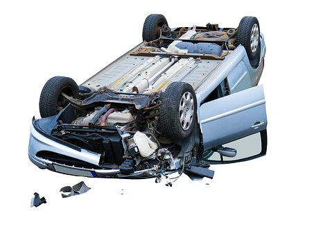 voiture endommagé